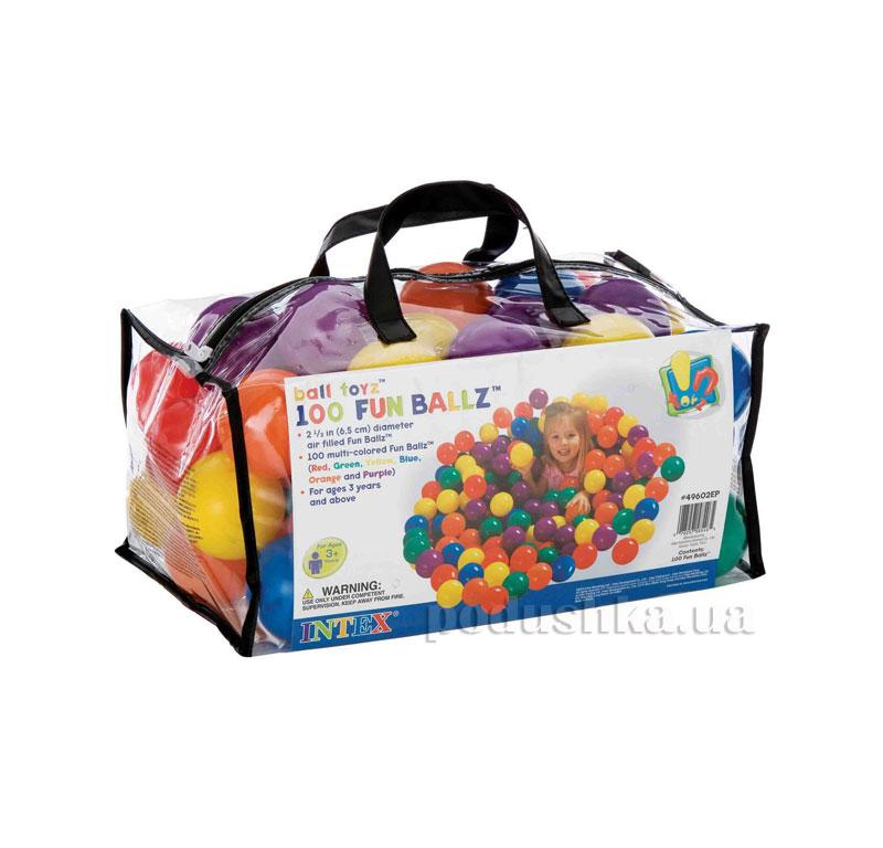 Шарики для сухого бассейна Intex Fun Ballz 49602