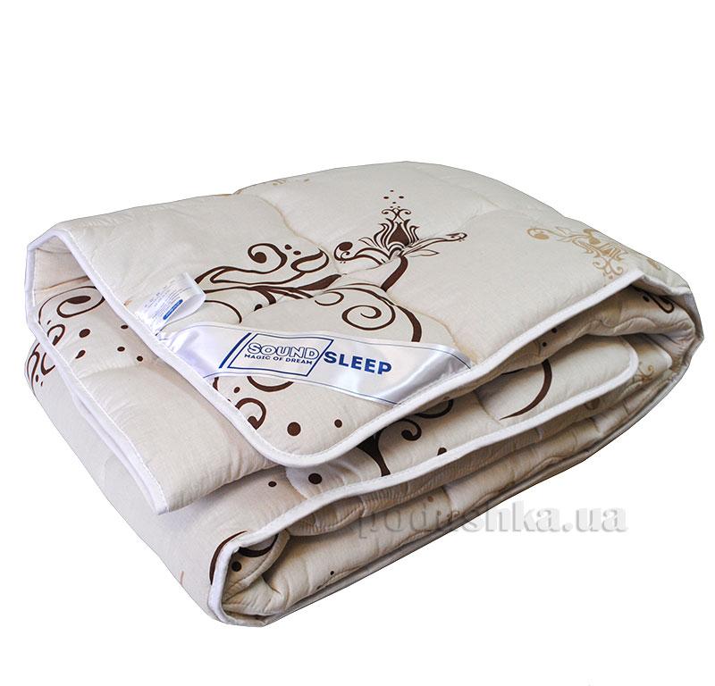 Шерстяное одеяло в бязи SoundSleep Sweet dreams бежевое