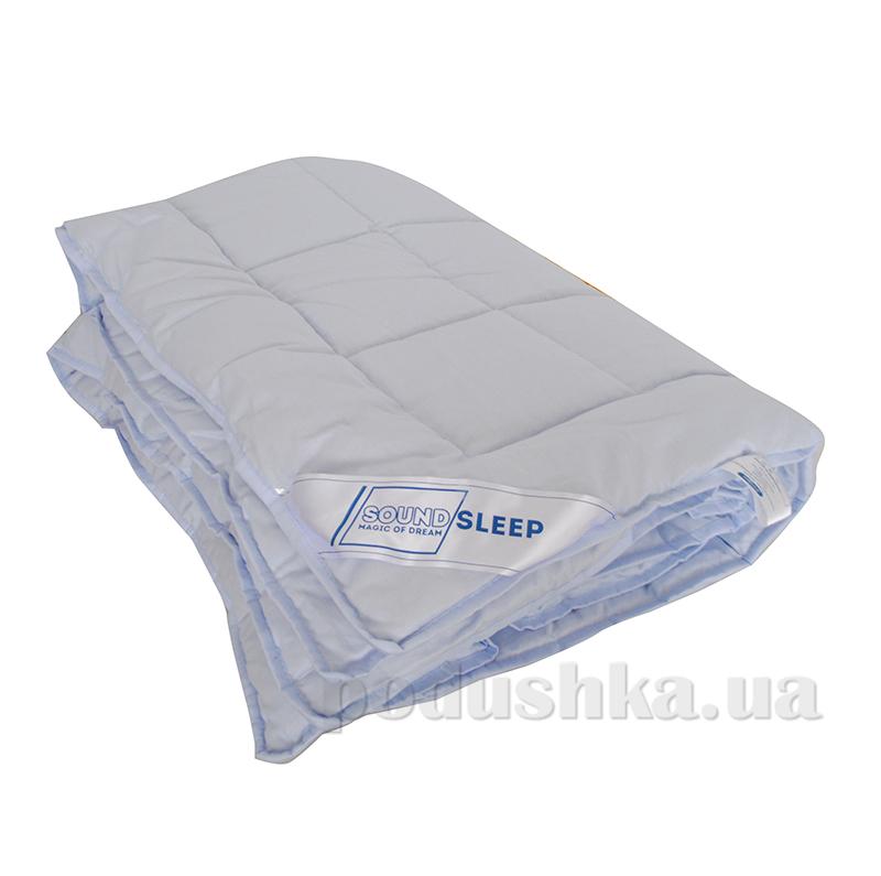 Шерстяное одеяло в сатине SoundSleep Color Dreams голубое