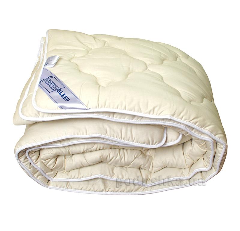 Шерстяное одеяло в сатине SoundSleep Color Dreams молочное