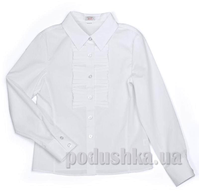 Школьная блуза с рюшами белая Юность 287