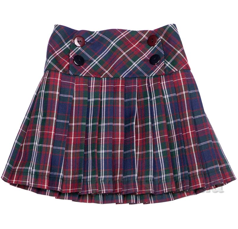 Школьная юбка на кокетке Юность 262 в клетку