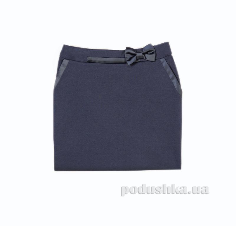 Школьная юбка синяя Panda ПА-07350-14 с атласной отделкой