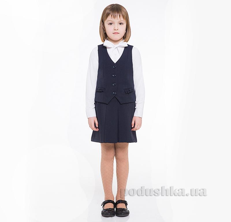 Школьная юбка в складку Panda ПА-00254-14 синяя