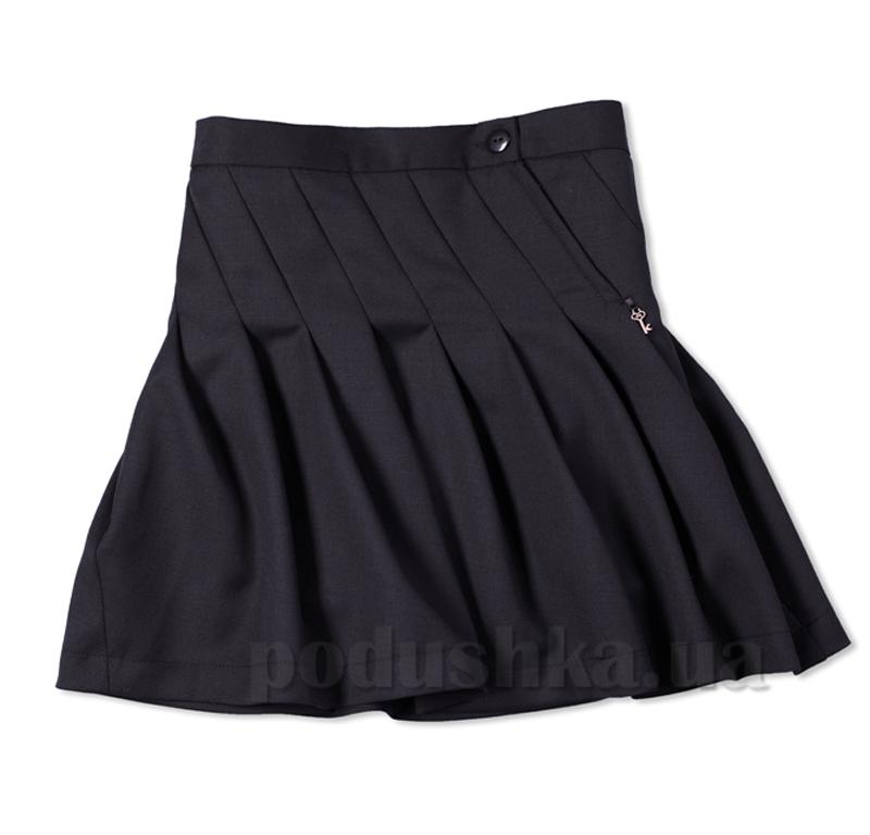 Школьная юбка Юность 325 черная в косую складку