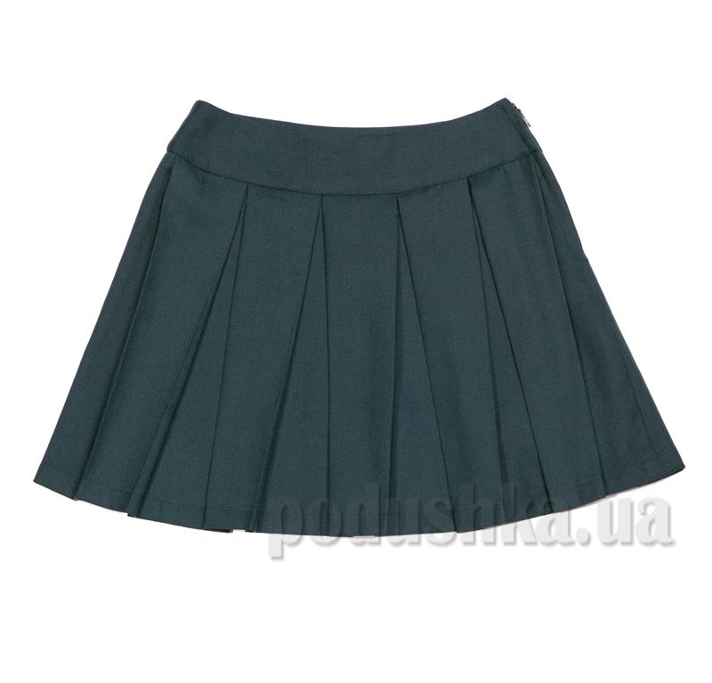 Школьная юбка зеленая в складку Юность 753-05