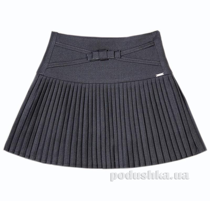 Школьная юбка-плиссе серая Panda ПА-06150-14
