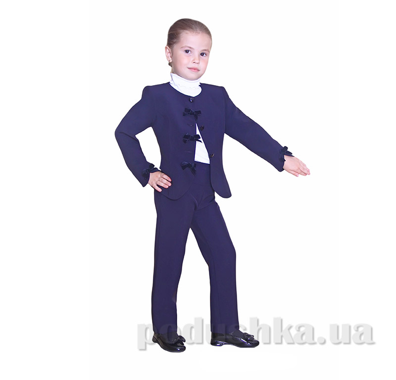 Школьный пиджак для девочки Purpurino 213202 синий