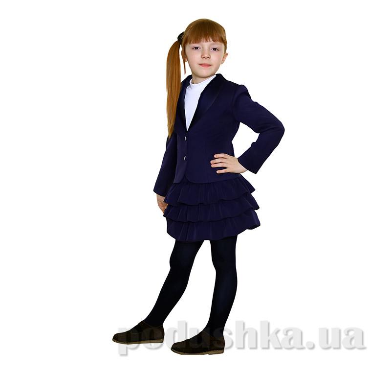 Школьный пиджак с бантом для девочки Purpurino 214202 черный
