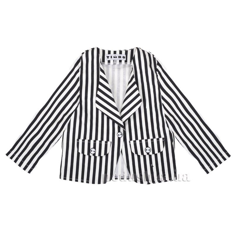 Школьный пиджак Timbo Mia P010227 черно-белый