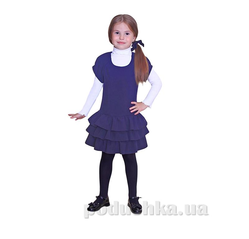 Школьный сарафан для девочки Purpurino 235202 синий
