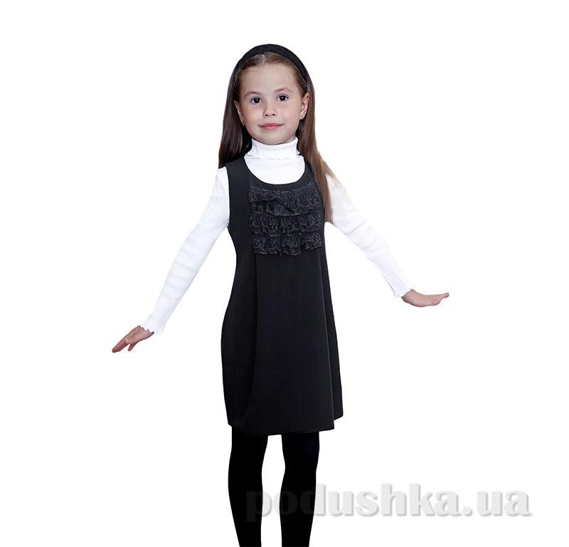 Школьный сарафан с жабо для девочки Purpurino 239201 черный