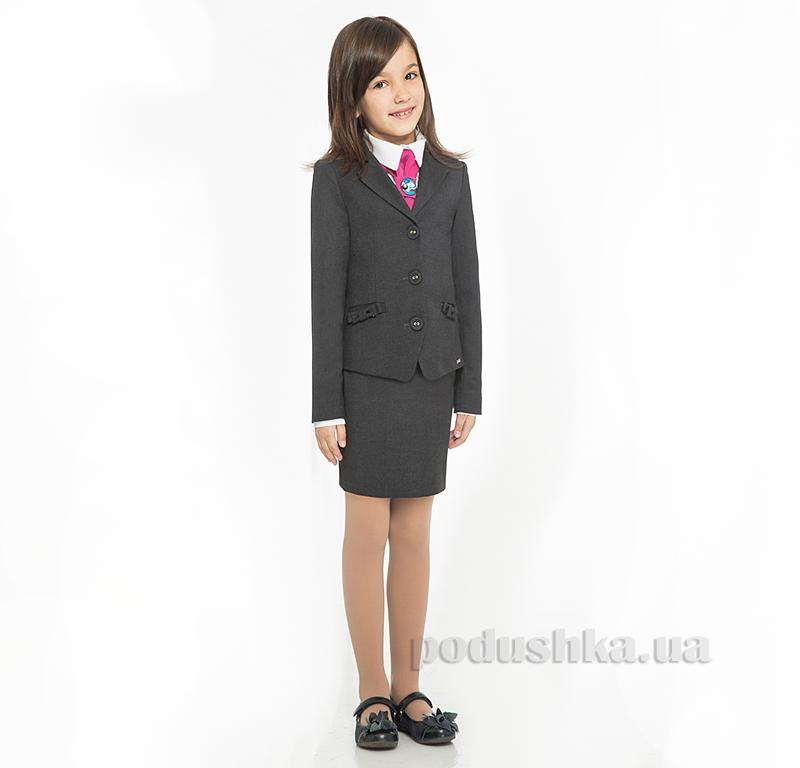 Школьный жакет для девочки ПА-06030-13 серый