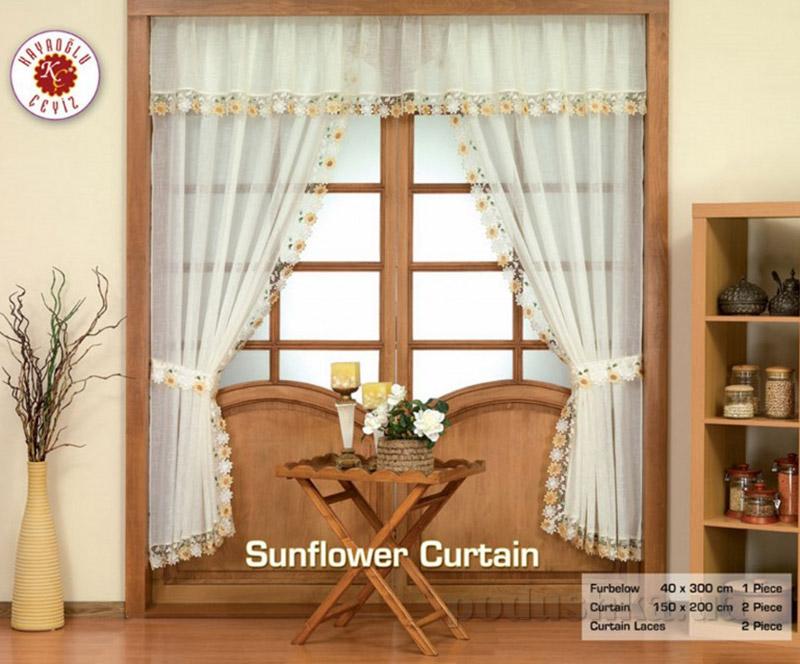 Штора для кухни Kayaoglu Sunflower
