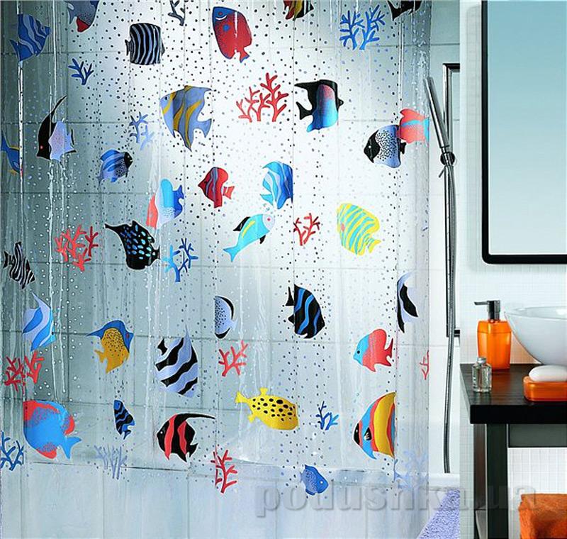 Шторка для ванной Spirella Fish pvc