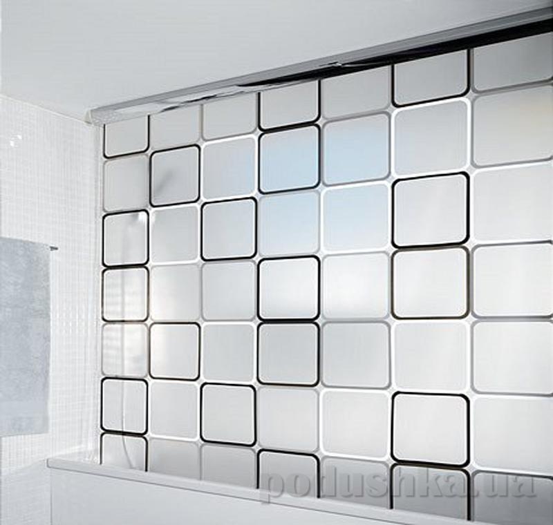 Шторка для ванной Spirella Rolo frame pvc