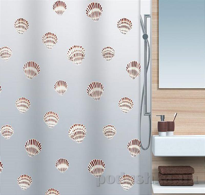 Шторка для ванной Spirella shell peva