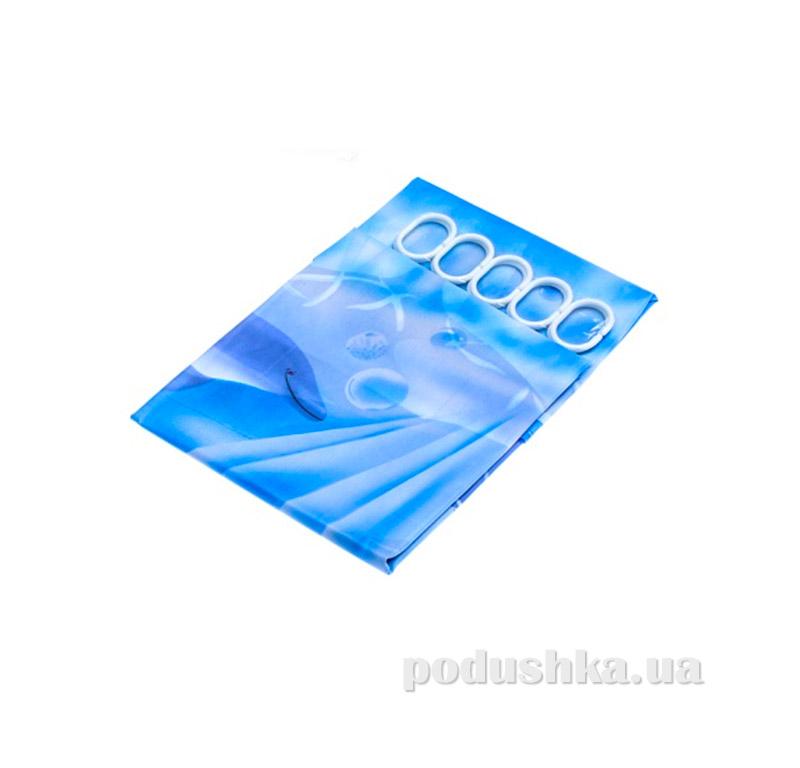 Шторка в ванную Ш-2-kovrotex Дельфины
