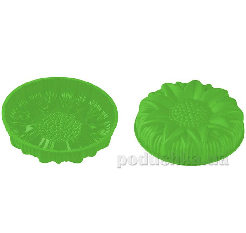 Силиконовая форма для выпечки Peterhof Подсолнечник PH-12842-GR зеленая   Peterhof