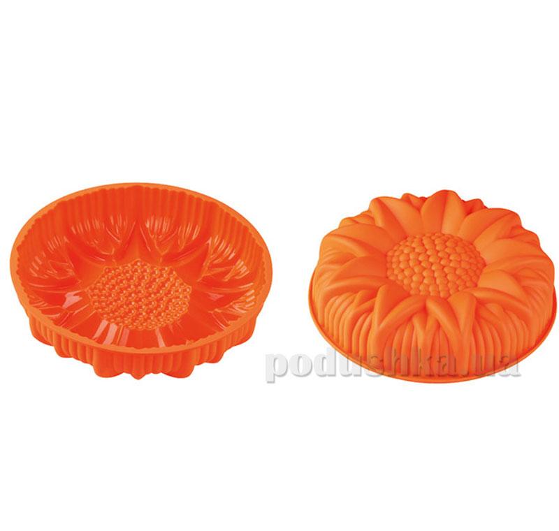 Силиконовая форма для выпечки Peterhof Подсолнечник PH-12842-OR оранжевая   Peterhof