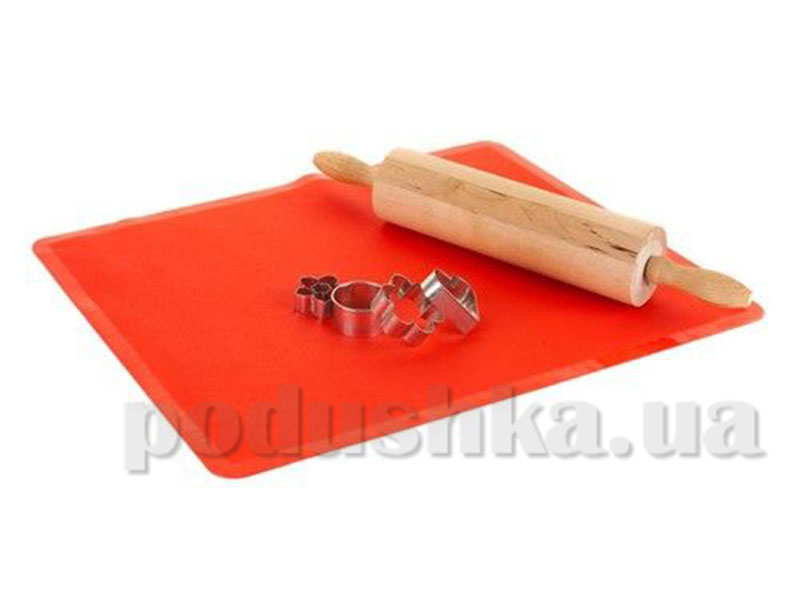 Силиконовый коврик красный Culinaria 50х40 см