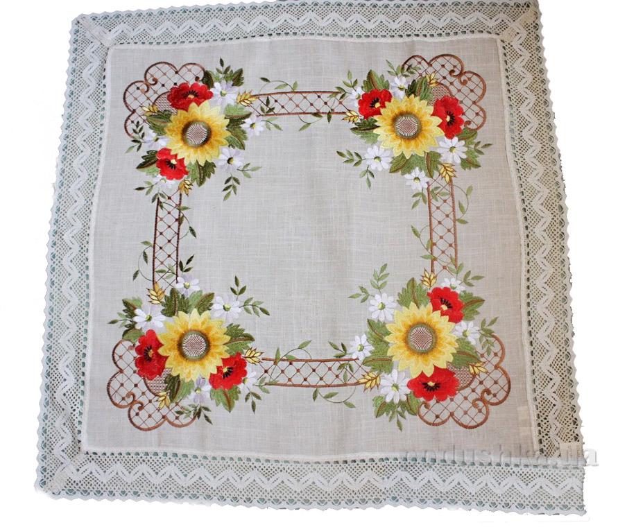 Скатерть льняная Alltex 3057 Полевые цветы