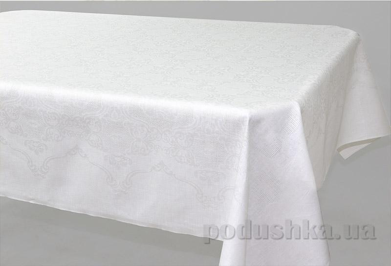 Скатерть льняная Белорусский лен 10С199-Марго белая