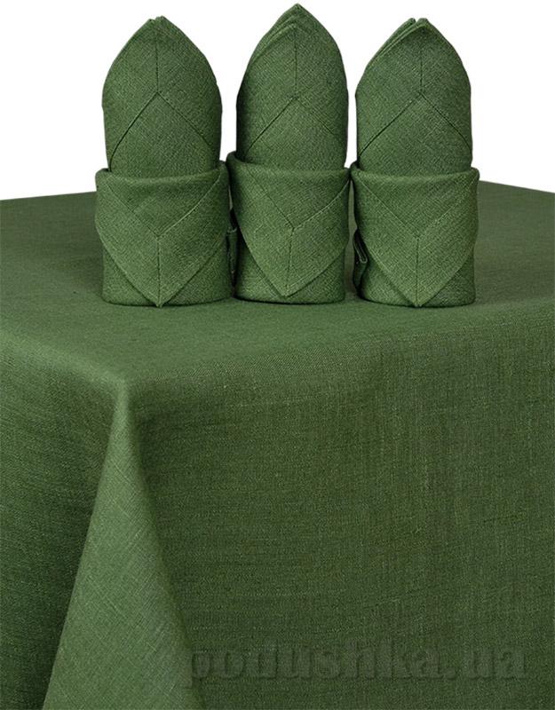 Скатерть льняная Гармония зеленая