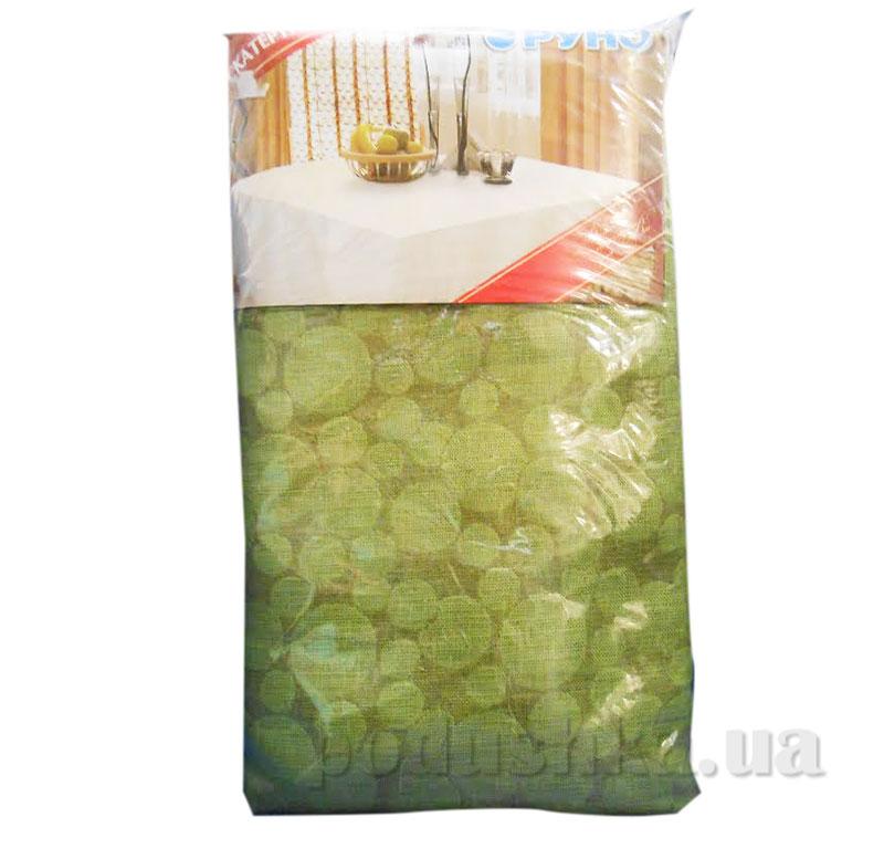 Скатерть льняная Руно 232.Злато зеленые мыльные пузыри