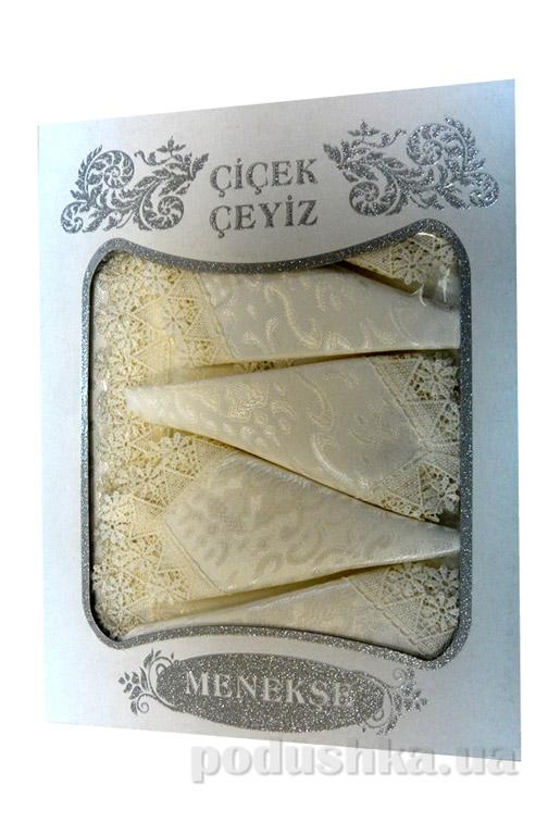 Скатерть с салфетками Menekse крем