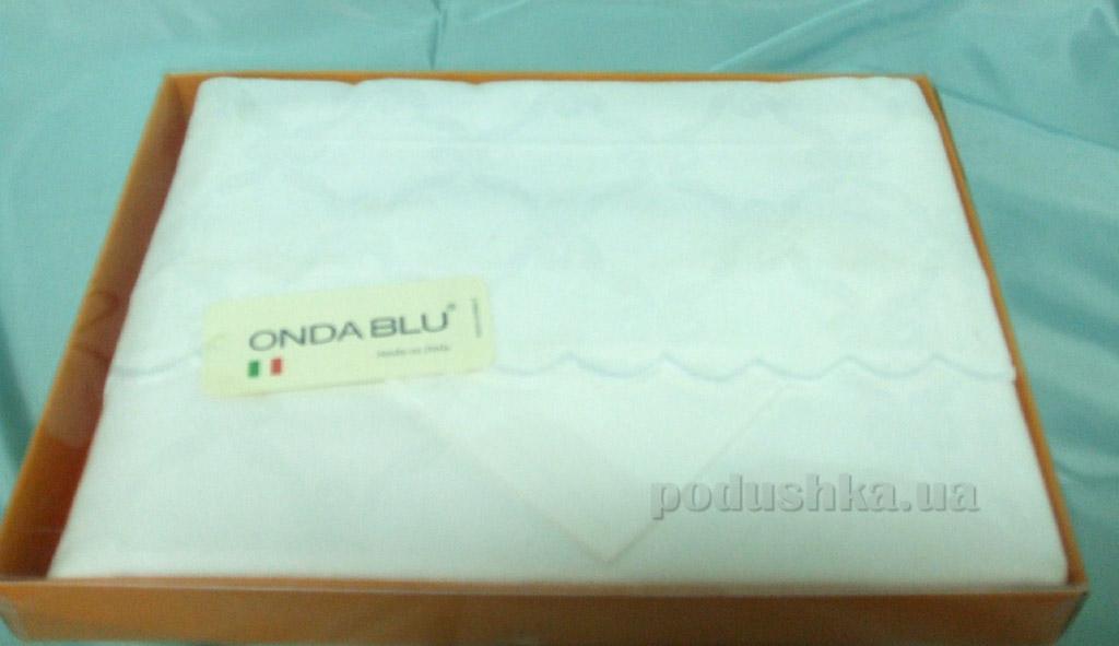 Скатерть с салфетками Ondablu Fiandra белая