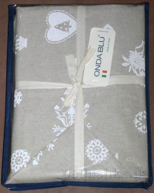 Скатерть с салфетками Ondablu Misto bianco