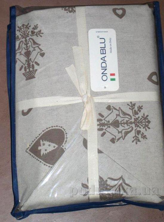 Скатерть с салфетками Ondablu Misto marrone