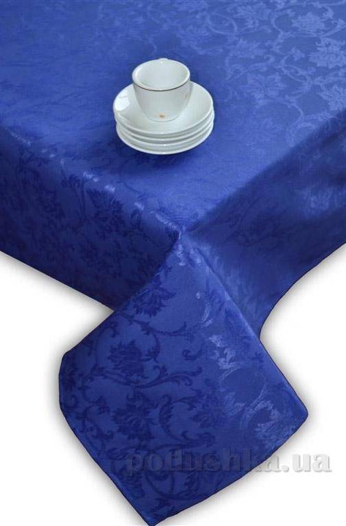 Скатерть жаккардовая Perrini Синие цветы