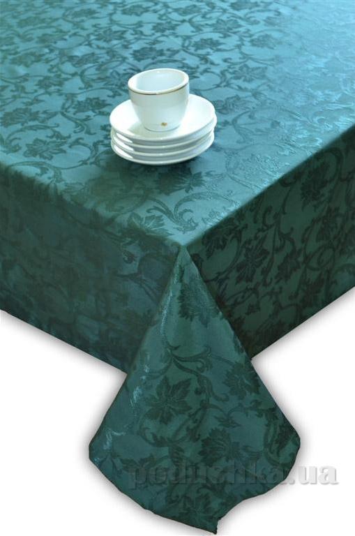 Скатерть жаккардовая Perrini Зелёные цветы