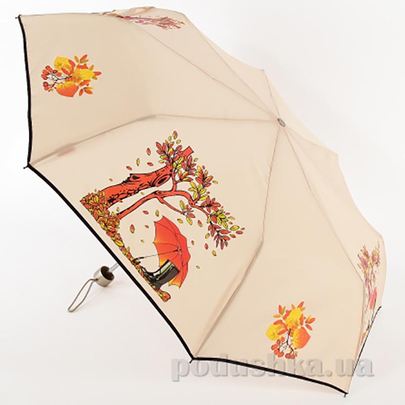 Складной мини-зонт Airton 3512 Осень молочный
