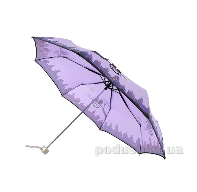 Складной мини-зонт Airton 3512 сиреневый коты