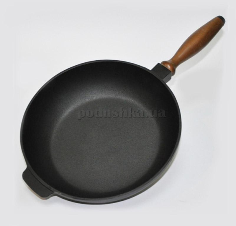 Сковорода c деревянной ручкой Chugunoff