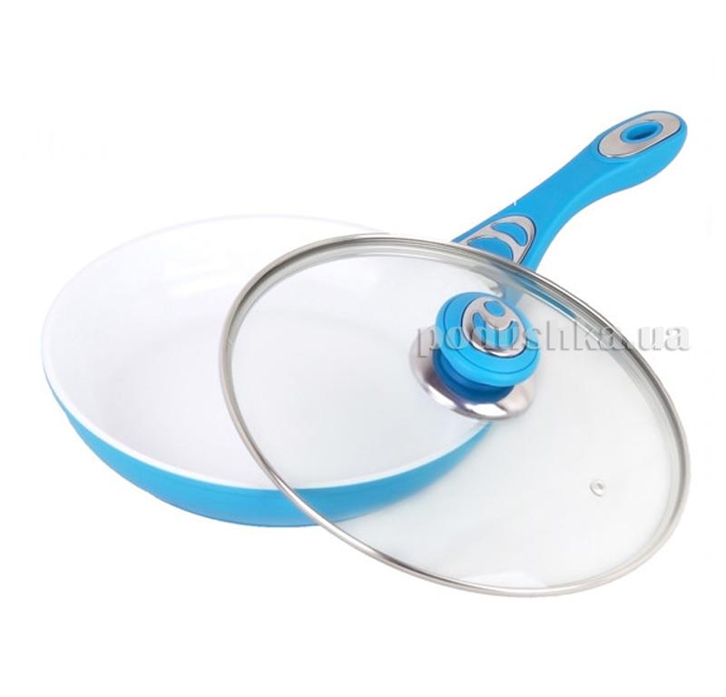 Сковорода 24см с керамическим покрытием из литого алюминия Kamille 4250В