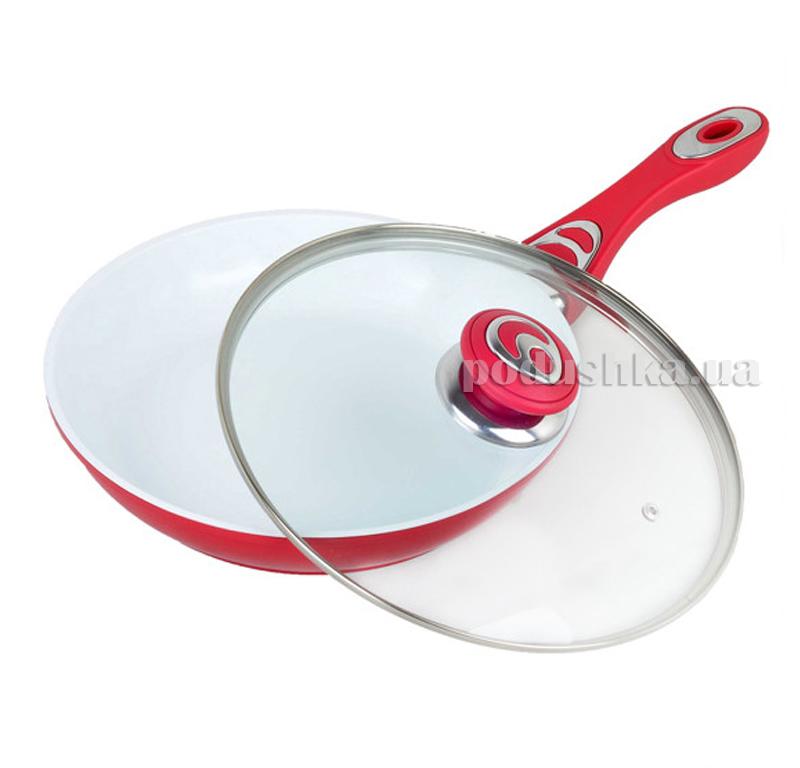 Сковорода 26см с керамическим покрытием из литого алюминия Kamille 4251R