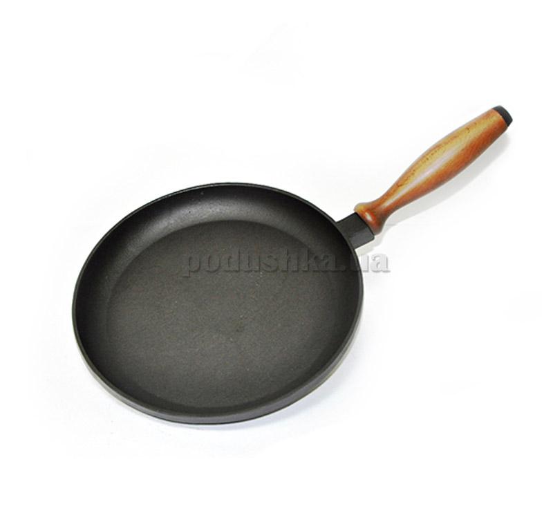 Сковорода для блинчиков 24 см с деревянной ручкой Chugunoff 240-25-001