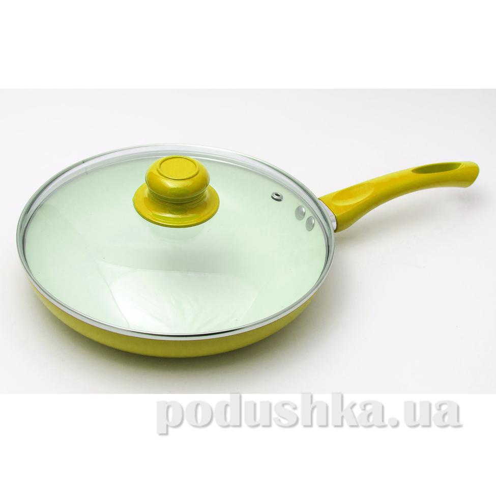 Сковорода керамическая Rainbow Maestro MR1201 желтая  диаметр 24 см MAESTRO