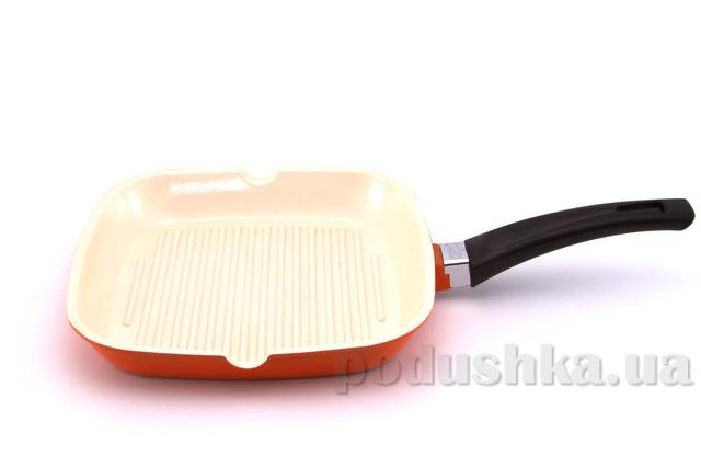 Сковорода-гриль оранжевая Gipfel MARVIA 24х24 см