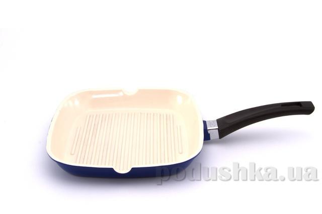 Сковорода-гриль синяя Gipfel MARVIA 24х24 см
