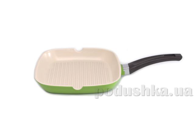 Сковорода-гриль зеленая Gipfel MARVIA 24х24 см