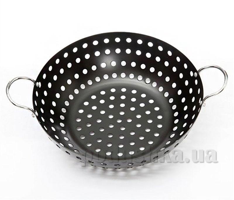 Сковорода-вок антипригарная для приготовления на углях Stahlberg