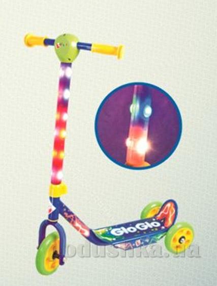 Скутер-самокат Hy-Pro Glo-Glo со светом синий