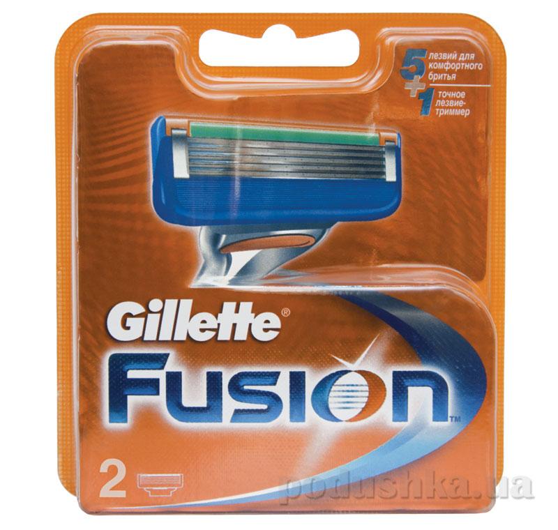 Сменные картриджи для бритья Gillette Fusion 2 шт