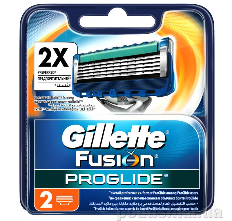 Сменные картриджи для бритья Gillette Fusion ProGlide 2 шт.