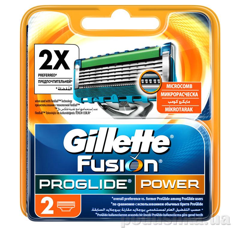 Сменные картриджи для бритья Gillette Fusion ProGlide Power 2 шт.